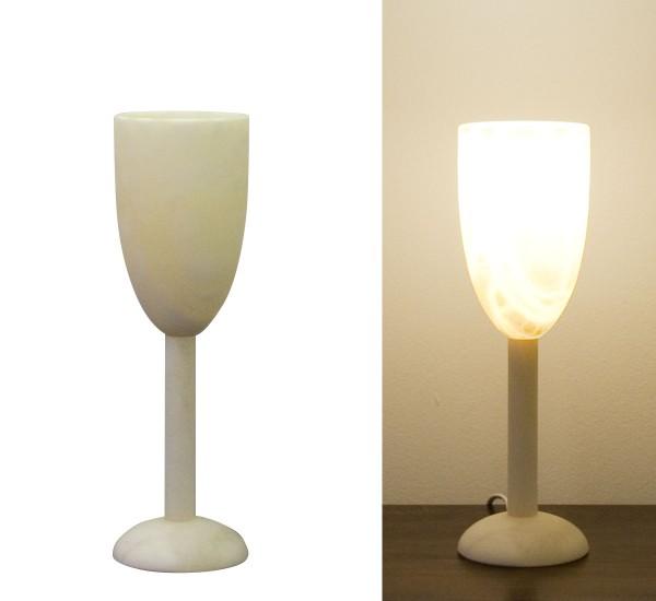 Alabasterlampe Kelch