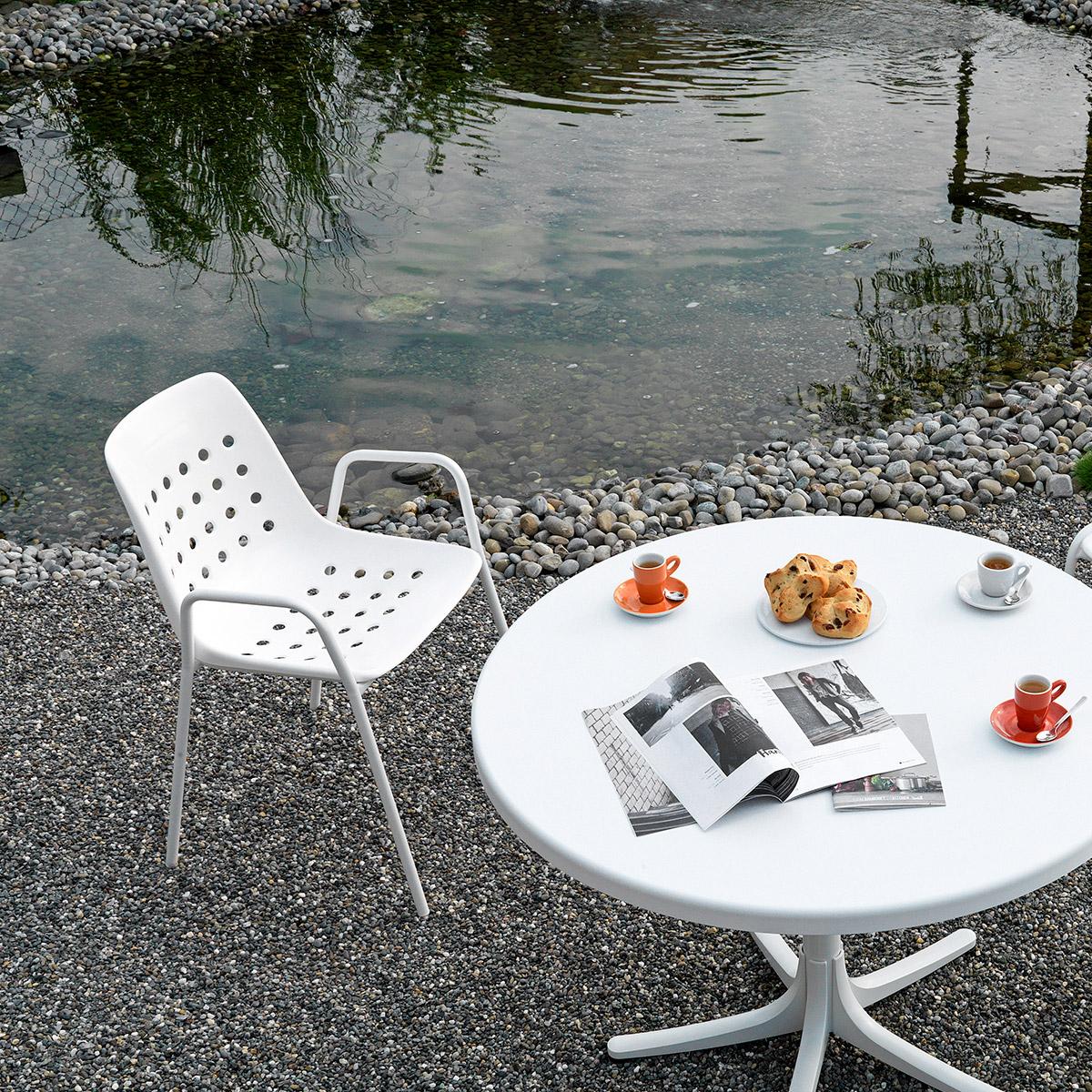Balkonset Arbon Bermuda Tisch & 2 Stühle Mit Armlehne