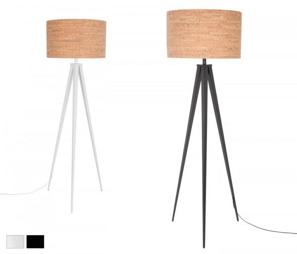 Stehlampe Tripod Kork