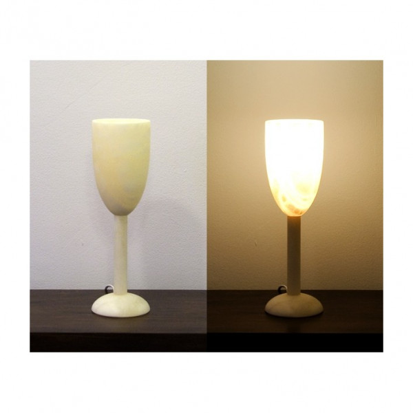 Alabasterlampe Kelch 3