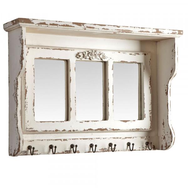 Wandspiegel mit Hakenleiste