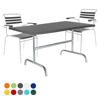 Gartenset Lättli-Säntis Tisch & 4 Stühle mit Armlehne