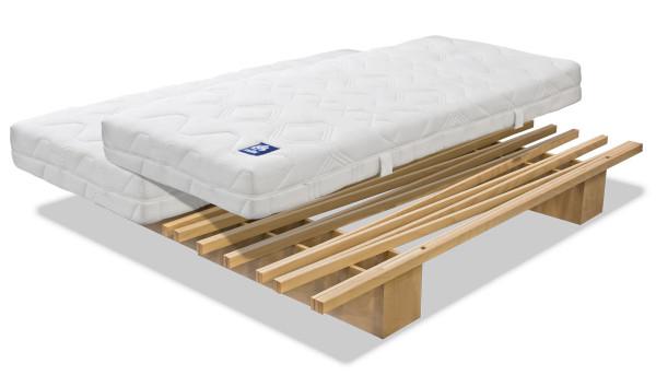Bett Tojo V = Variabel 90 bis 180x200 cm
