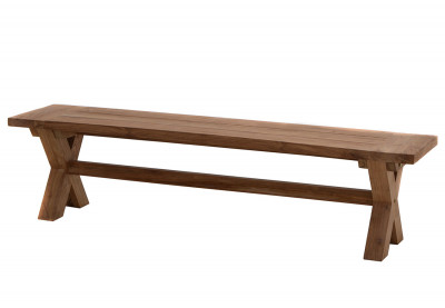 Rustikal- Bank Lincoln Old-Teak 220 cm