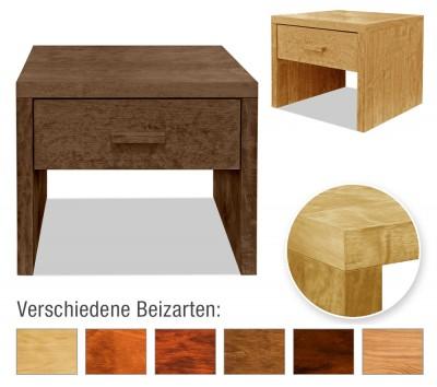 Nachttisch Basic mit Schublade (Beistelltisch, Typ 3)
