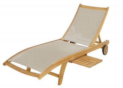Rollliege Richmond Teak mit Tablett