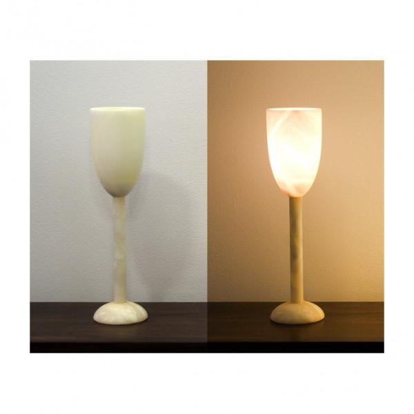 Alabasterlampe Kelch2