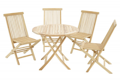 Gartenset Lexington-Milford Tisch & 4 Stühle