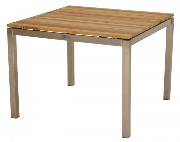 Tisch Brooklyn 100x100 cm Teak gebürstet