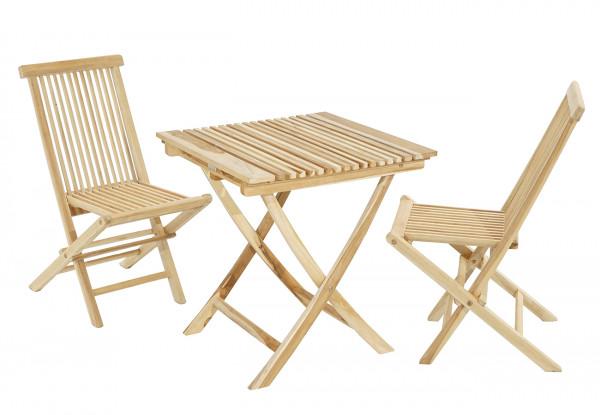 Sitzgruppe Milford Tisch & 2 Stühle