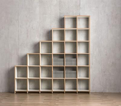 Mocoba Book Treppenregal 6x6