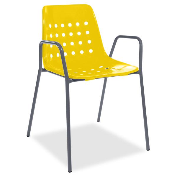 Balkonset Arbon-Bermuda Tisch & 2 Stühle mit Armlehne