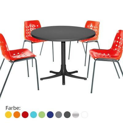 Gartenset Arbon-Bermuda Tisch & 4 Stühle